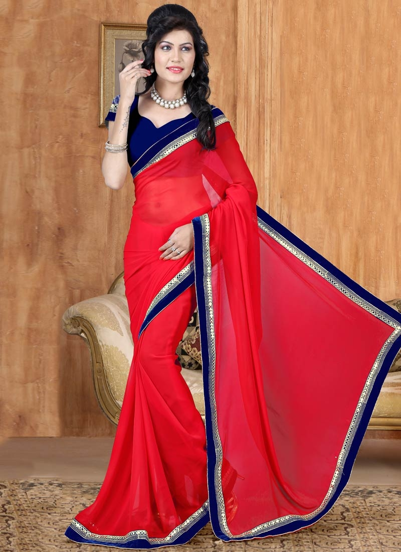 Superlative Faux Georgette Casual Saree