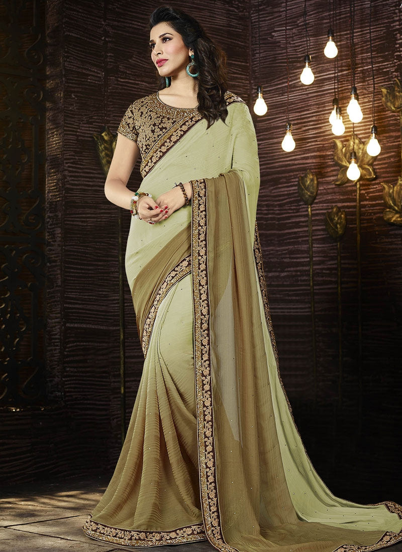 Superlative Jacquard Stone Work Designer Saree