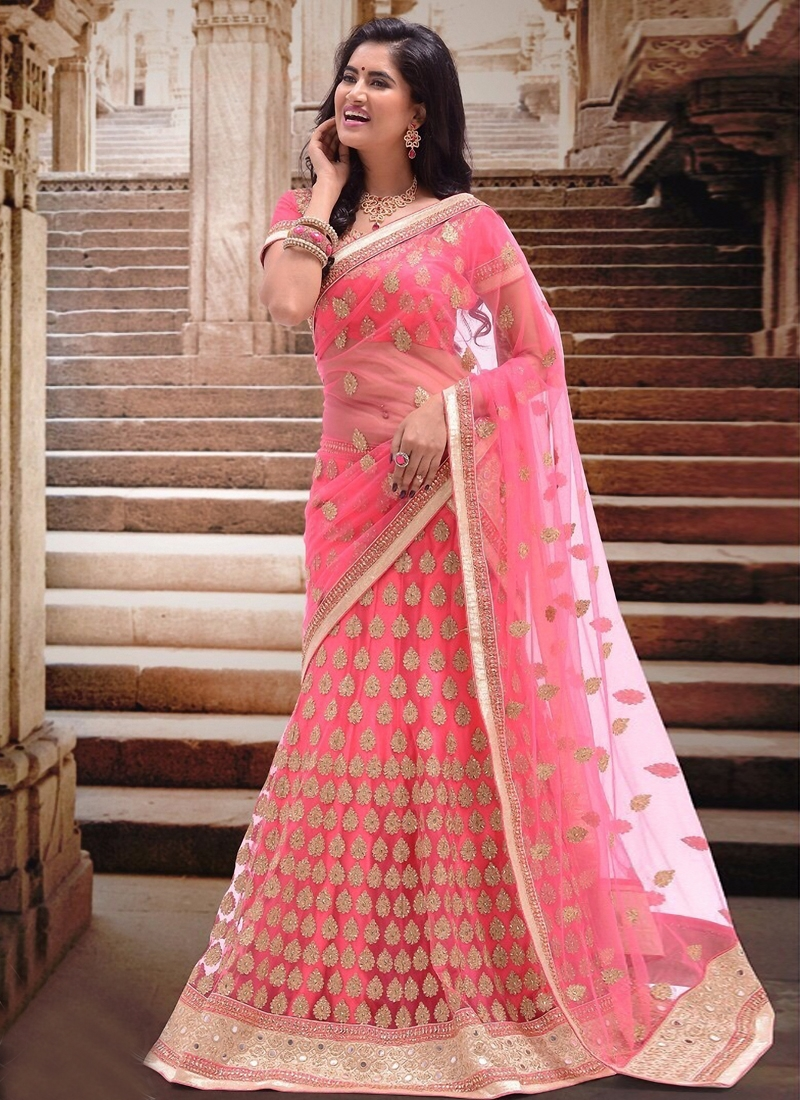Superlative Mirror Work Bridal Lehenga Choli
