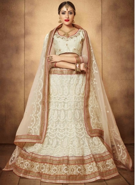 Superlative Patch Border And Stone Work Designer Lehenga Choli