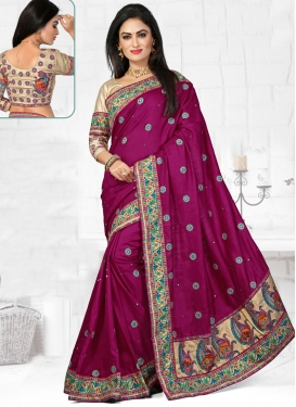 Superlative Patch Border Work Wedding Saree
