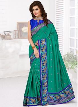 Superlative Resham Work Manipuri Silk Wedding Saree