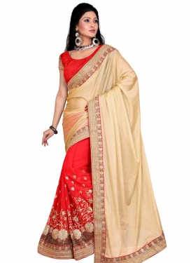 Superlative Sequins Work Half N Half Designer Saree