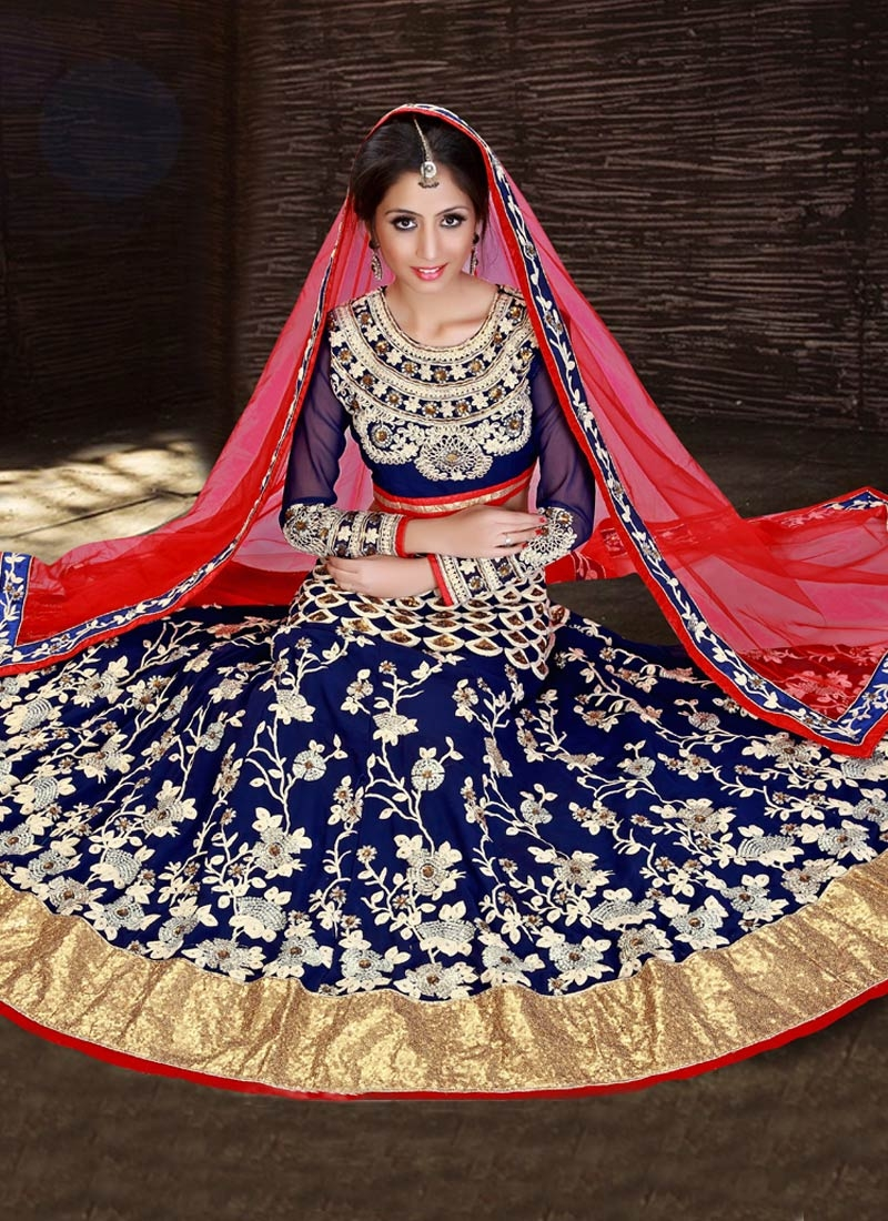 Superlative Sequins Work Wedding Lehenga Choli