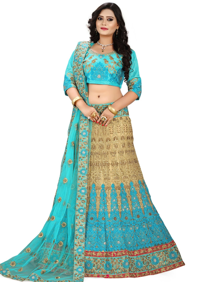 Superlative Stone And Embroidery Work Bridal Lehenga Choli