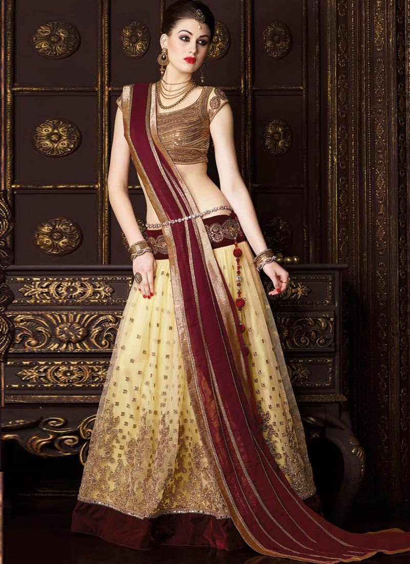 Superlative Velvet Patch Work Wedding Lehenga Choli
