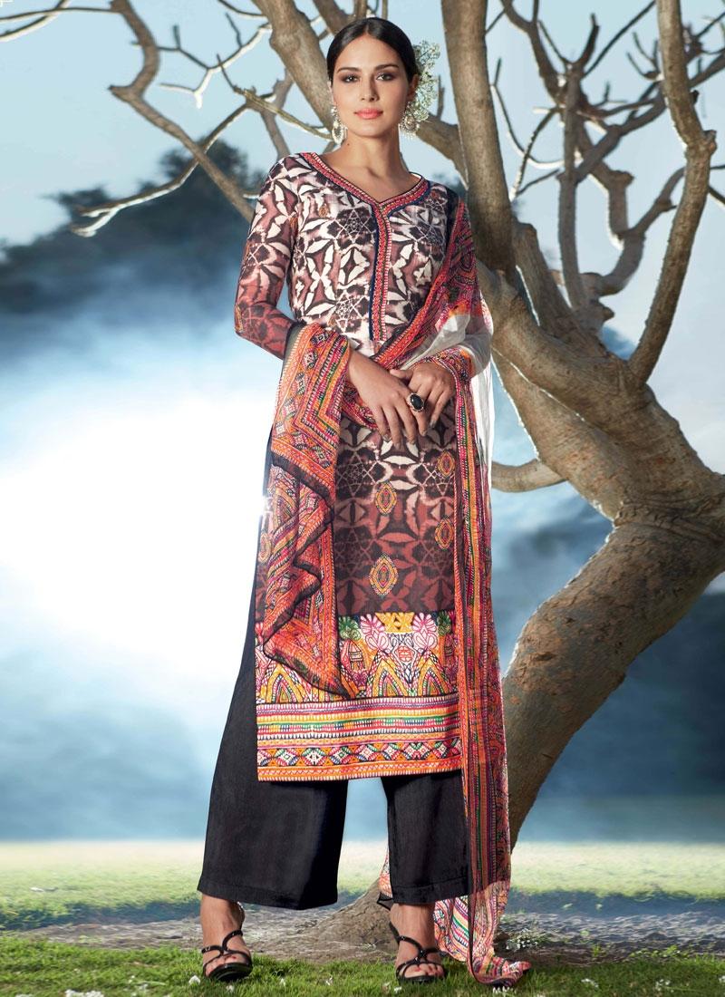 Surpassing Digital Print Work Palazzo Style Pakistani Suit