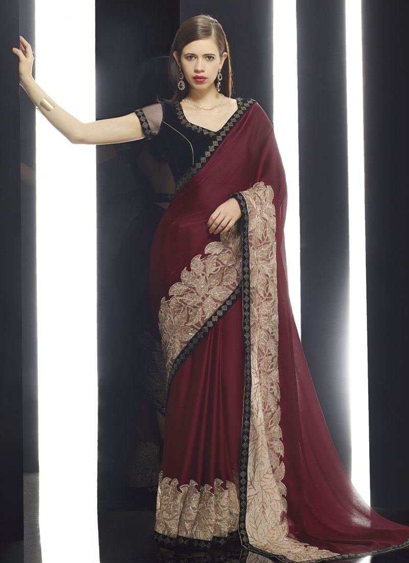 Surpassing Fancy Fabric Kalki Koechlin Designer Saree