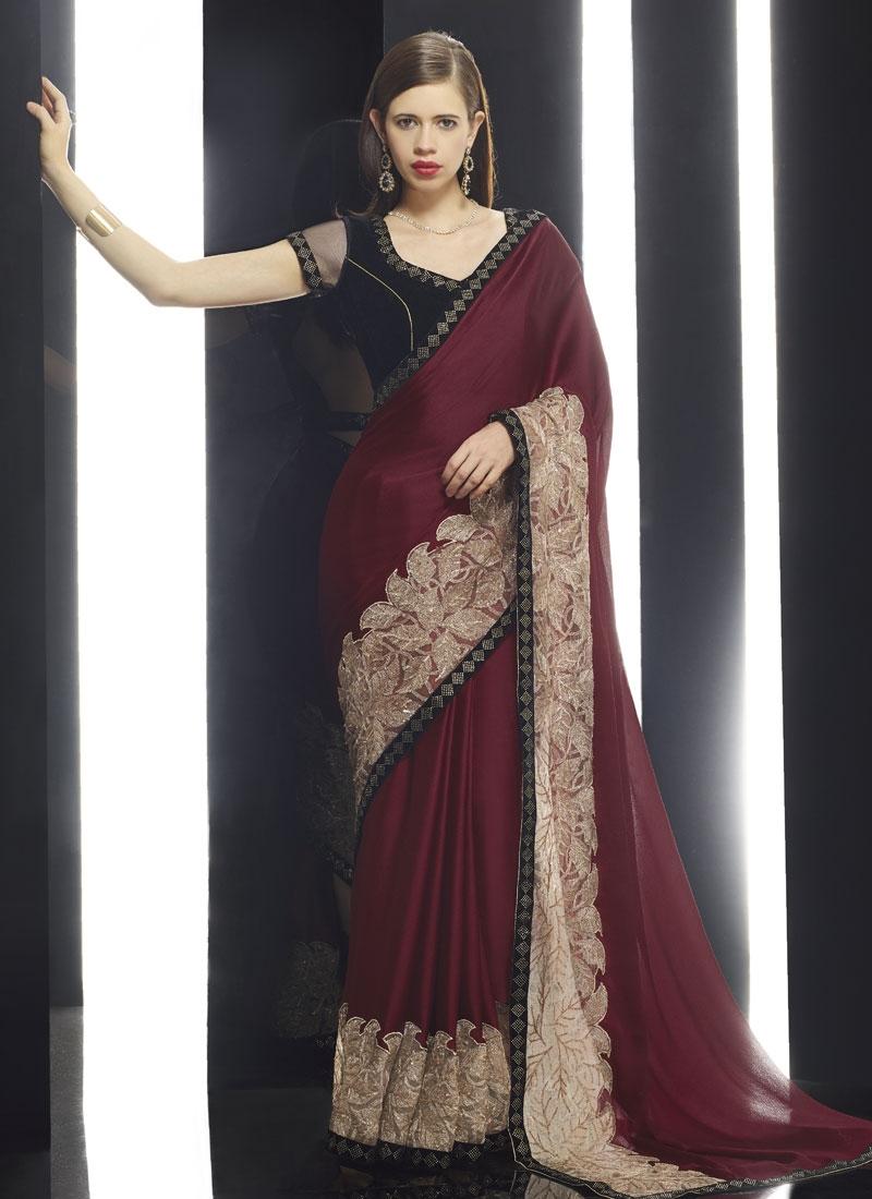 Surpassing Fancy Fabric Kalki Koechlin Designer Saree