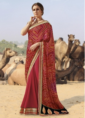 Surpassing Faux Georgette Traditional Designer Saree