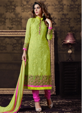 Surpassing Floral Work Party Wear Salwar Kameez