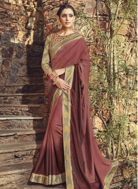 Surpassing Lace Work Traditional Saree