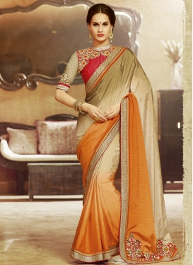 Surpassing Patch Border Work Party Wear Saree