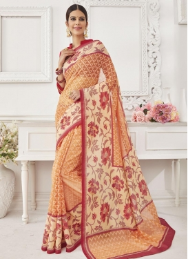Surpassing  Resham Work Contemporary Style Saree