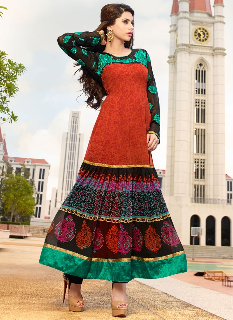 Surpassing Resham Work Long Length Party Wear Salwar Kameez