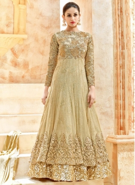 Swanky  Embroidered Work Layered Designer Salwar Kameez