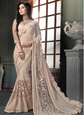 Swanky Faux Georgette Contemporary Saree