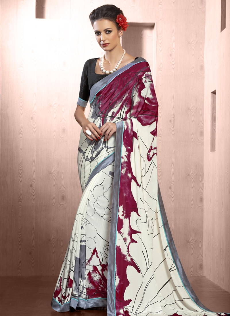 Swanky Lace Work Casual Saree