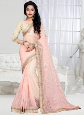 Swanky  Lace Work Contemporary Style Saree