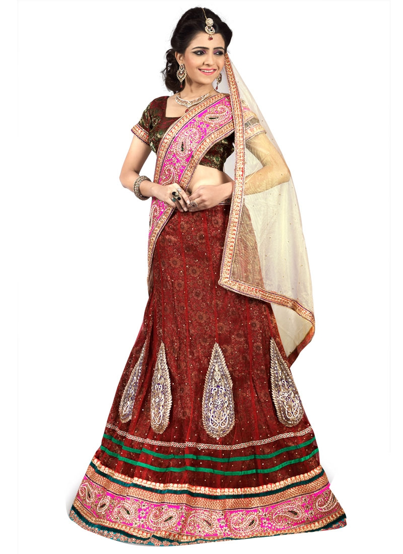 Swanky Net Booti Work Party Wear Lehenga Choli