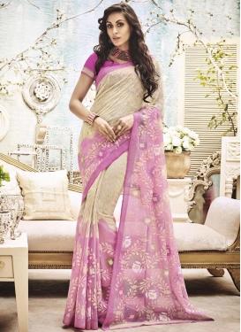 Swanky Resham Work Trendy Classic Saree