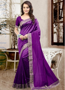 Sweet  Art Silk Contemporary Saree For Festival
