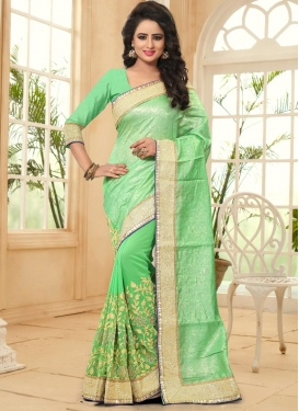 Sweet Embroidered Work Trendy Saree