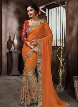 Sweet  Net Contemporary Style Saree