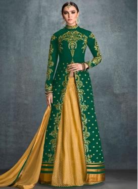 Sweetest Banglori Silk Designer Kameez Style Lehenga Choli