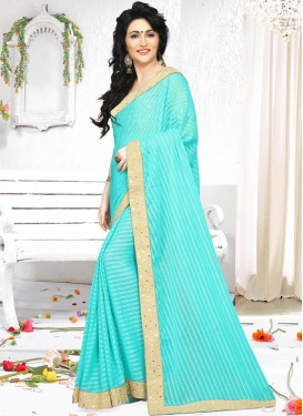 Sweetest Lace Work  Classic Saree
