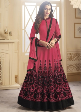 Tafeta Silk Anarkali Salwar Suit
