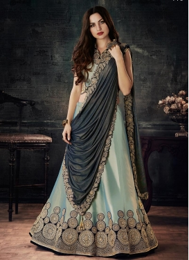 Tafeta Silk Designer A Line Lehenga Choli