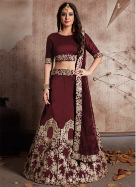 Tafeta Silk Embroidered Work Designer Classic Lehenga Choli