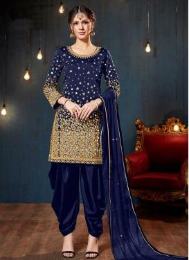 Tafeta Silk Lace Work Trendy Salwar Kameez