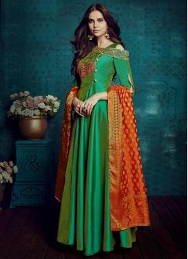 Tafeta Silk Layered Trendy Gown