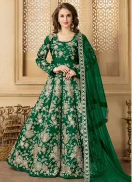 Tafeta Silk Long Length Anarkali Suit