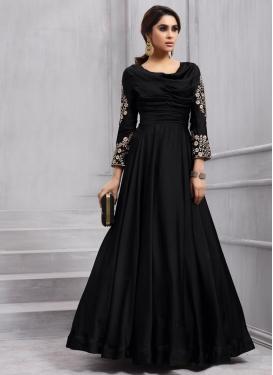 Tafeta Silk Long Length Designer Anarkali Suit