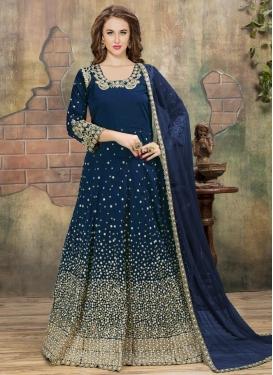 Tafeta Silk Trendy Anarkali Salwar Kameez