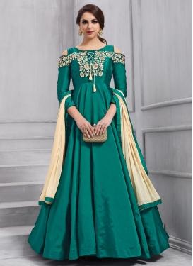 Tafeta Silk Trendy Designer Salwar Kameez