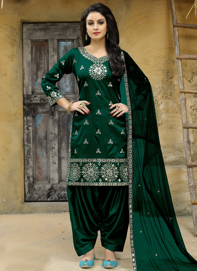 Tafeta Silk Trendy Salwar Kameez
