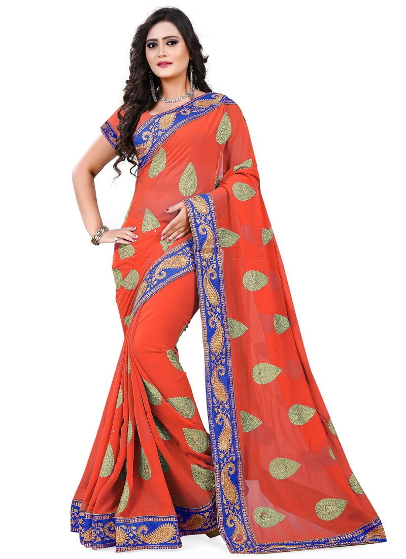 Talismanic Booti And Resham Work Party Wear Saree