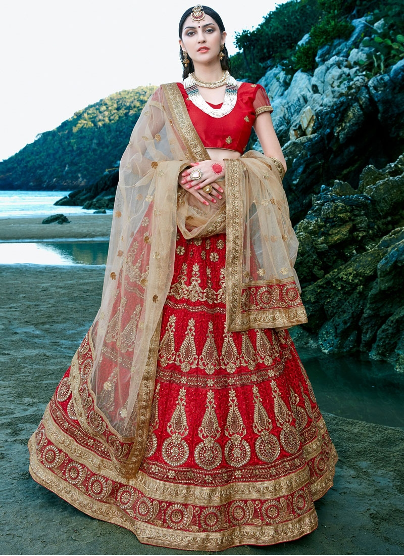 Talismanic Booti And Stone Work Bridal Lehenga Choli