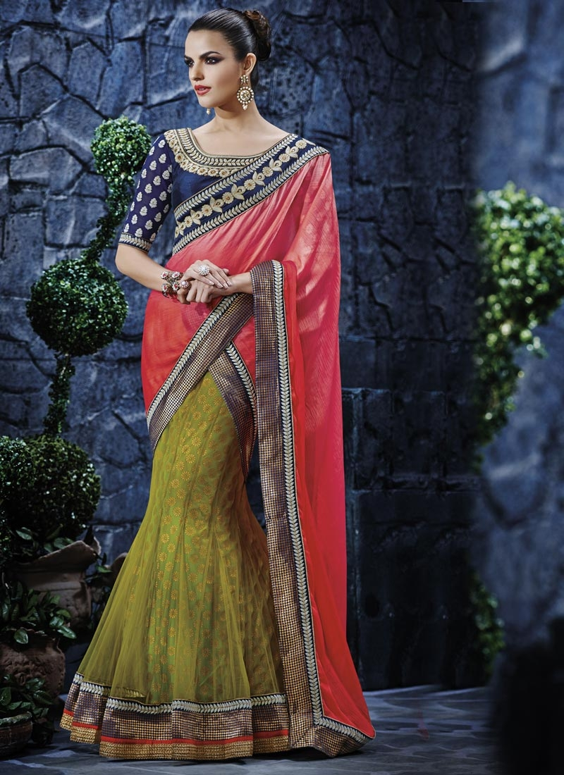 Talismanic Chiffon Satin And Net Designer Lehenga Saree