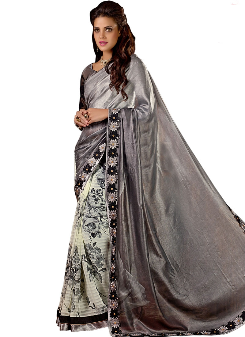 Talismanic Chiffon Satin Half N Half Party Wear Saree