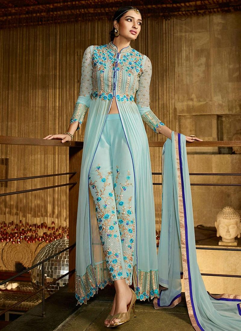 Talismanic Floral Work Pant Style Designer Salwar Kameez