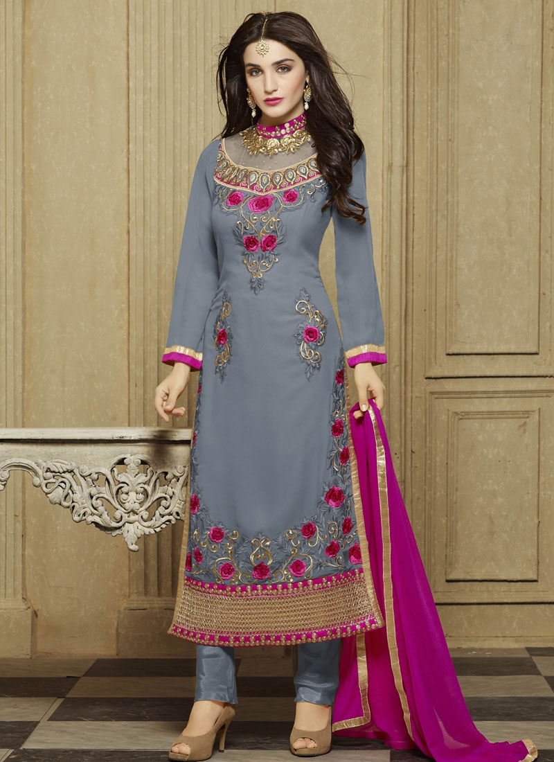 Talismanic Floral Work Party Wear Salwar Kameez