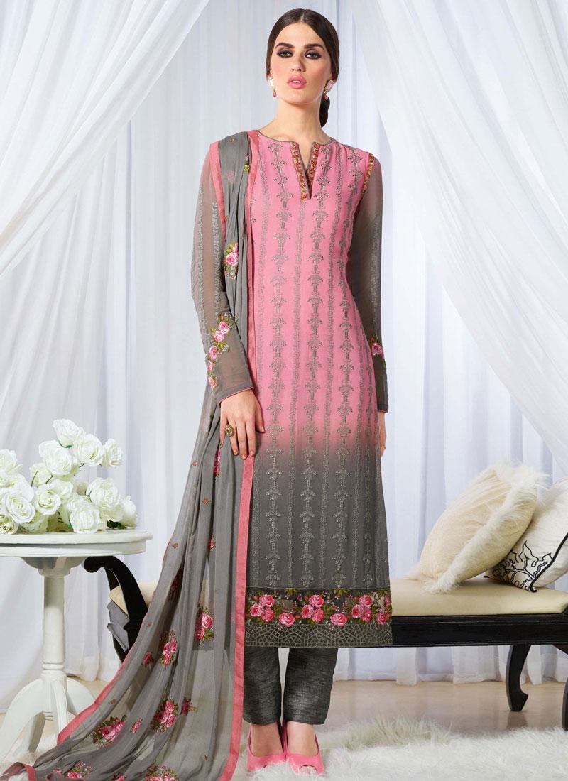 Talismanic Georgette Floral Work Pant Style Pakistani Salwar Suit