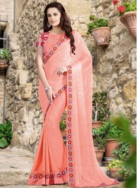 Talismanic Jacquard Silk Resham Work Designer Saree