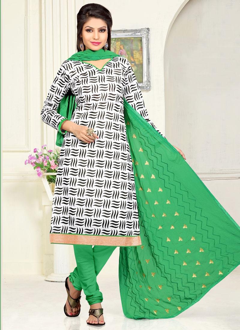 Talismanic Off White Color Casual Salwar Suit