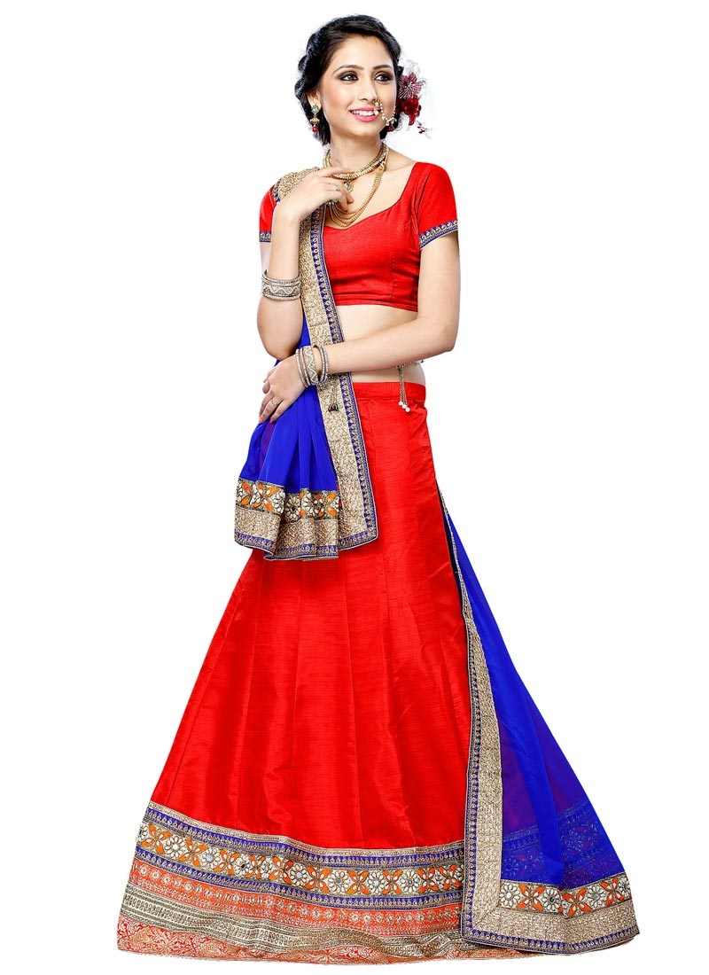 Talismanic Patch Border And Mirror Work Party Wear Lehenga Choli